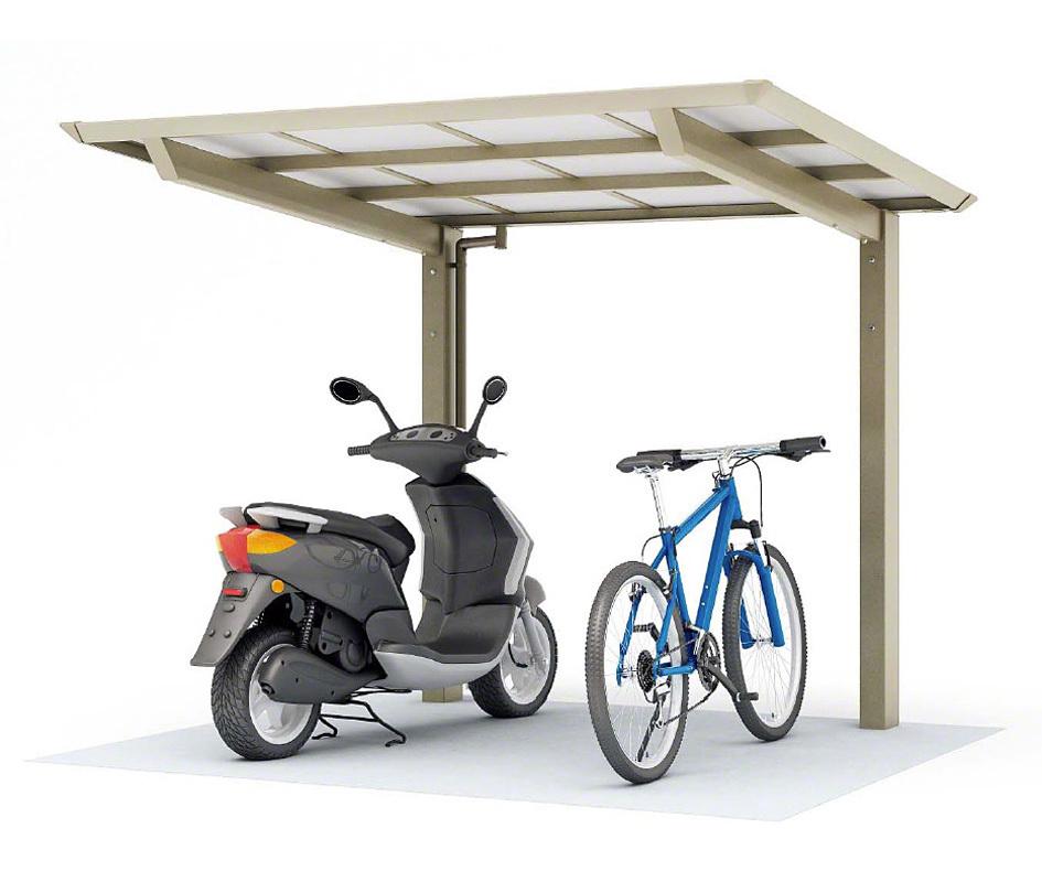 ポリカ自転車置場 間口2096mm×奥行(横幅)4950mm×最大高さ2140mm フラット屋根 6~8台用 サイクルポート 日本製 DIY 格安 送料無料
