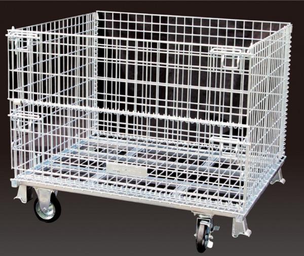 【即日発送】 サンキンメッシュパレットL650mm x W900mm x H780mm /500Kg【前扉半開式キャスター付】【SC-2S】樹脂製品・農産物・箱詰軽量製品・少量生産品の保管や運搬など 送料無料, サンクロレラ f7eb2c1b