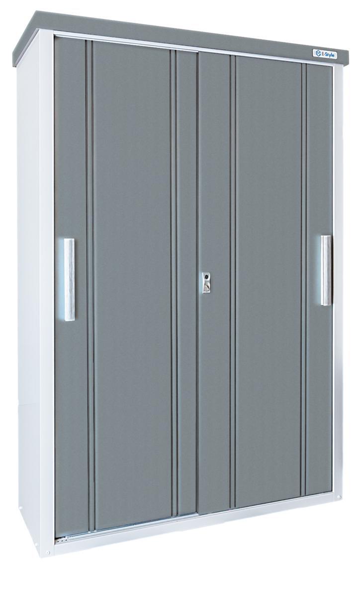 サンキン物置(E-Styleクール1350) 間口1300mm×奥行500mm×高さ1937mm 棚板2枚付 扉カラー選択可能 送料無料 格安 物置 倉庫 DIY