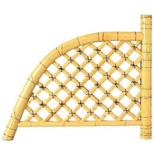 白光悦寺垣天然国産竹仕切垣 W(幅)1800mm H(高さ)1180mm 送料無料 格安