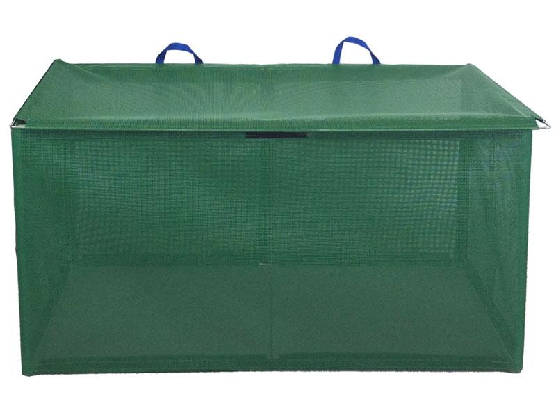 ステンレス製折り畳み式ゴミ収集ボックス軽量タイプW1200mm x D600mm x H625mm 45Lゴミ袋約9袋 収集箱 ゴミ箱 ゴミストッカー カラス・猫対策 送料無料 格安