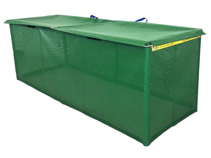 ステンレス製折り畳み式ゴミ収集ボックス軽量タイプW1800mm x D600mm x H625mm 45Lゴミ袋約13袋 収集箱 ゴミ箱 ゴミストッカー カラス・猫対策 送料無料 格安