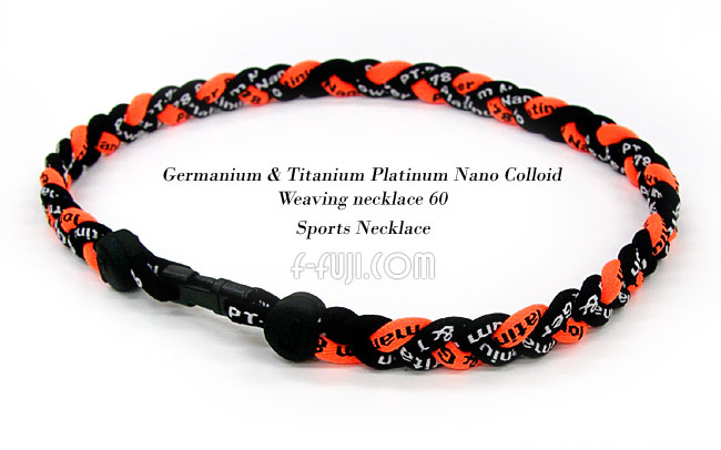 Giants colors and baseball, sports players also use germatitamplachnananocolloidweevingnecklace 60 / braid sport necklace FS04Jan15