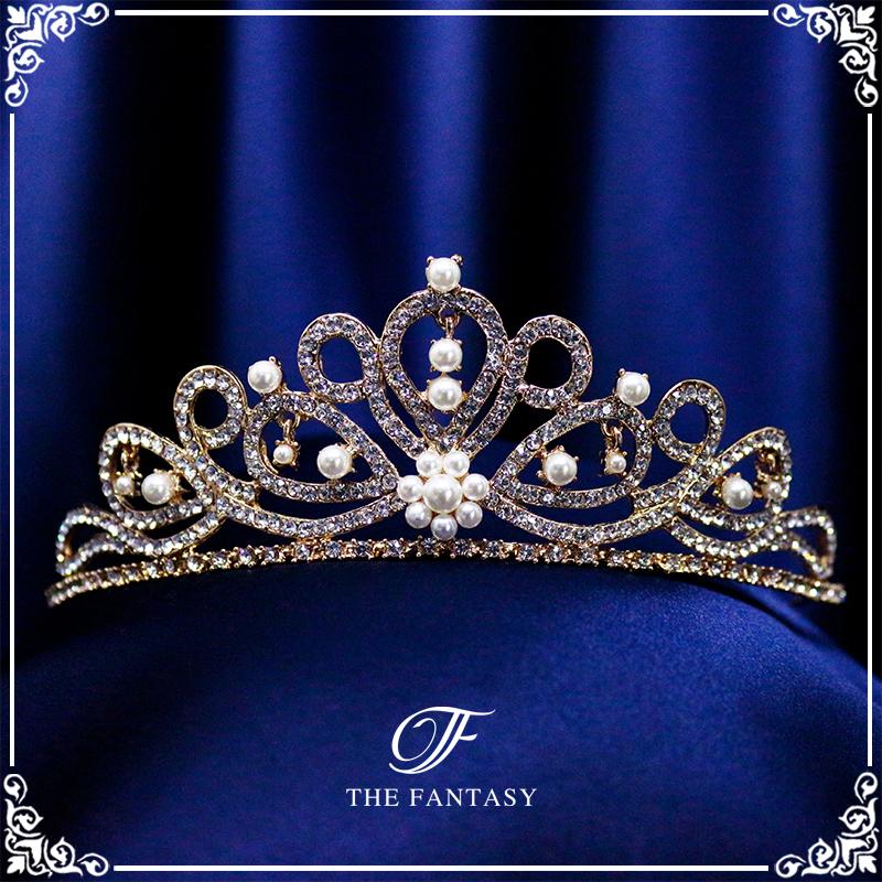 ティアラ結婚式キュービックジルコニア王冠ウエディングティアラブライダルtiara髪飾りft8035plgd