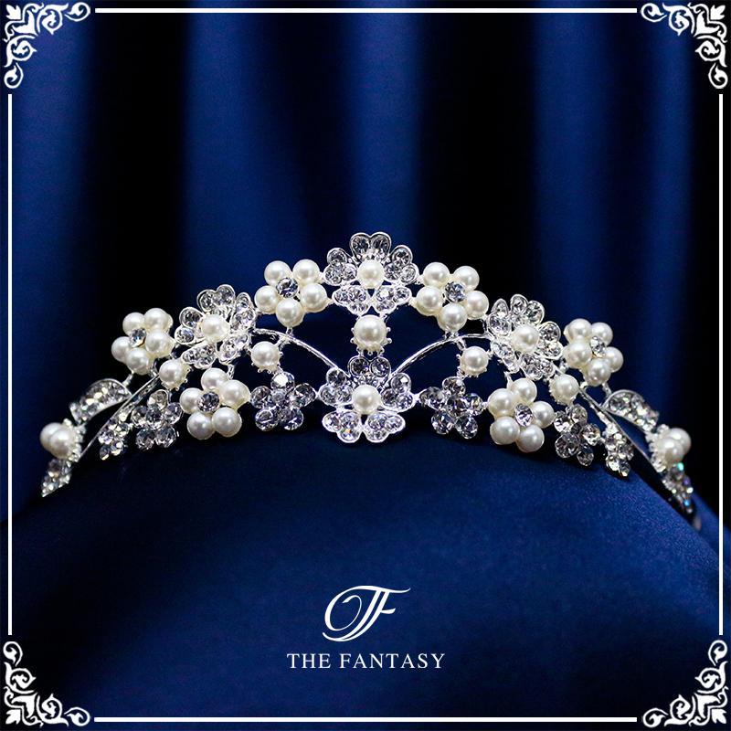 ティアラ結婚式キュービックジルコニア王冠ウエディングティアラブライダルtiara髪飾りft8120plsr