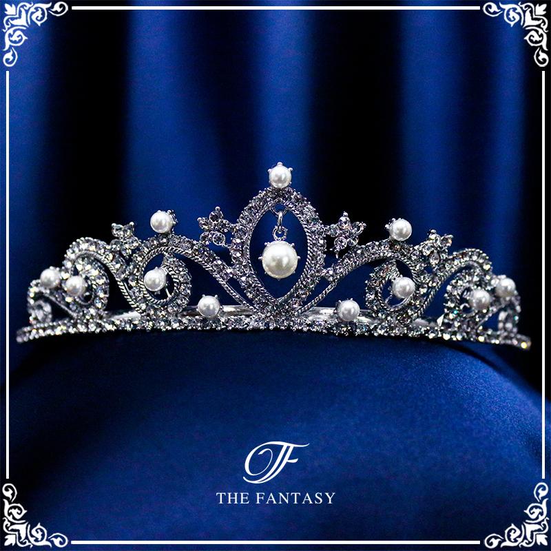 ティアラ結婚式キュービックジルコニア王冠ウエディングティアラブライダルtiara髪飾りft9017plsr