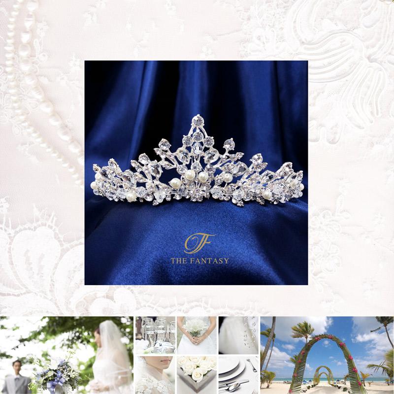 ティアラ結婚式キュービックジルコニア王冠ウエディングティアラブライダルtiara髪飾りft9058plsr