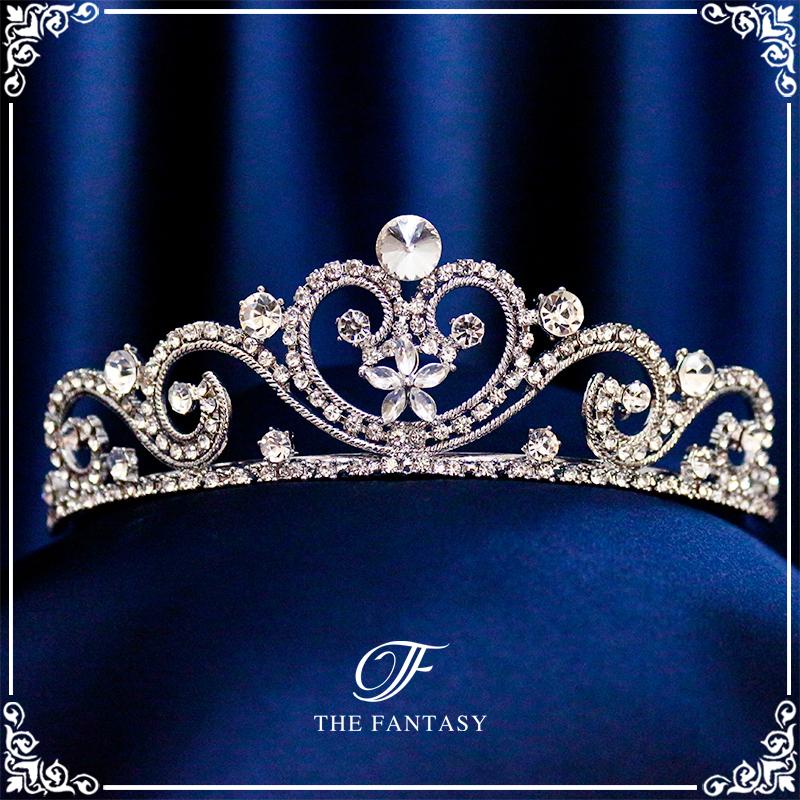 ティアラ結婚式キュービックジルコニア王冠ウエディングティアラブライダルtiara髪飾りft9078sr
