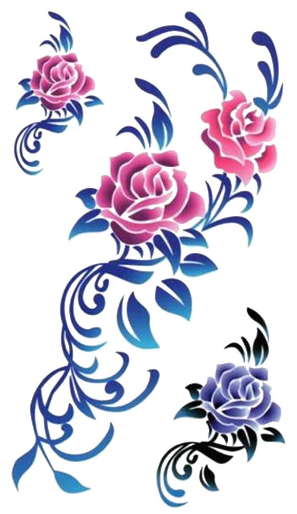 (ファンタジー) TheFantasy タトゥーシール タトゥーシール 薔薇 ローズ hm510  【レギュラー】