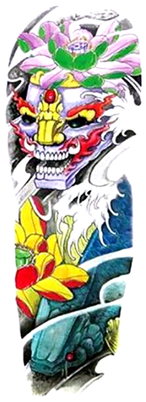(ファンタジー) TheFantasy タトゥーシール タトゥーシール 肩から手首 般若 お面 qb3050【特長】
