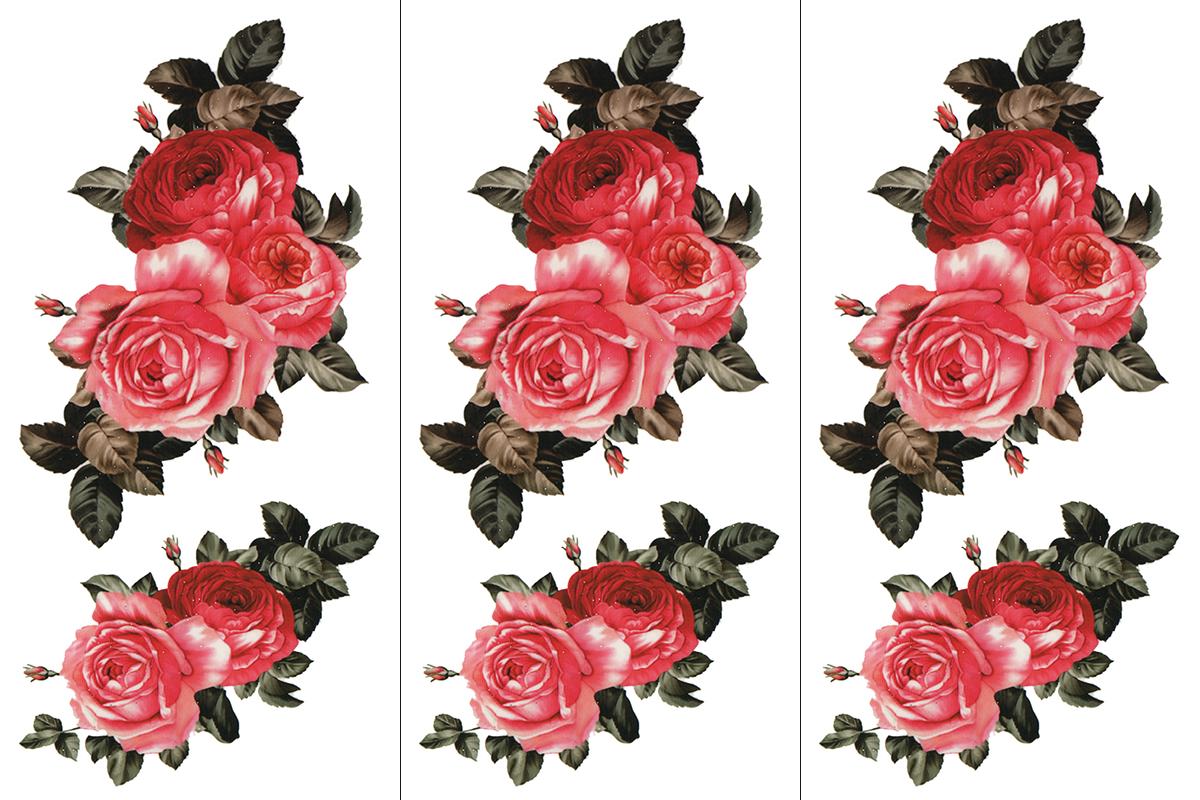 (ファンタジー) TheFantasy 【3枚セット】 タトゥーシール 薔薇 ymx297 【レギュラー】