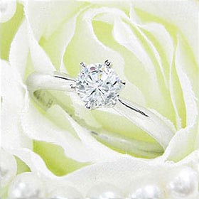 ダイヤモンド婚約指輪 サイズ直し一回無料 0.5ct D VS2 VERY-GOOD シンプル6本爪 プラチナ Pt900 婚約指輪(エンゲージリング)