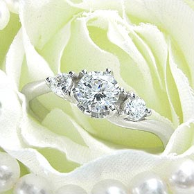 ダイヤモンド婚約指輪 サイズ直し一回無料  0.25ct D VVS2 EXCELLENT H&C 3EX  Sラインサイドメレ6本爪 プラチナ Pt900 婚約指輪(エンゲージリング)