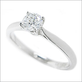 ダイヤモンド婚約指輪 サイズ直し一回無料  0.2ct F VVS2 EXCELLENT  シンプル4本爪 プラチナ Pt900 婚約指輪(エンゲージリング)