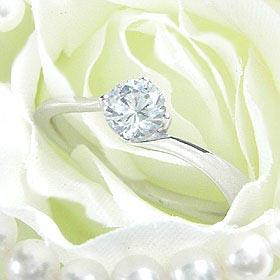 ダイヤモンド婚約指輪 サイズ直し一回無料 0.5ct E VVS2 EXCELLENT H&C 3EX カーヴライン4本爪 プラチナ Pt900 婚約指輪(エンゲージリング)