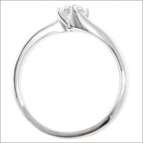 ダイヤモンド婚約指輪 サイズ直し一回無料  0.3ct E VVS1 EXCELLENT H&C 3EX  カーヴライン4本爪 プラチナ Pt900 婚約指輪(エンゲージリング)
