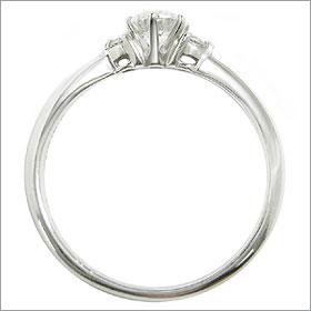 ダイヤモンド婚約指輪 サイズ直し一回無料  0.25ct E VVS2 EXCELLENT H&C 3EX  両サイドメレ6本爪 プラチナ Pt900 婚約指輪(エンゲージリング)
