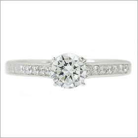 ダイヤモンド婚約指輪 サイズ直し一回無料0 3ct D VS1 EXCELLENT7両サイドメレ4本爪 プラチナ Pt900 婚約指輪 エンゲージリングny80wOPvmN