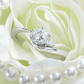 ダイヤモンド婚約指輪 サイズ直し一回無料  0.3ct D VVS2 EXCELLENT H&C  アンシンメトリーライン6本爪D1 プラチナ Pt900 婚約指輪(エンゲージリング)