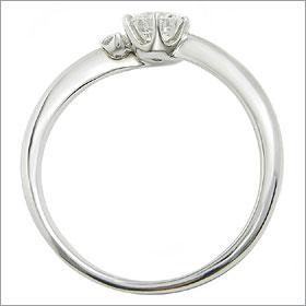 ダイヤモンド婚約指輪 サイズ直し一回無料  0.5ct E SI1 VERY-GOOD  アンシンメトリーライン6本爪D1 プラチナ Pt900 婚約指輪(エンゲージリング)