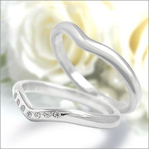 マリッジリング Eternita(エテルニタ) Elegante(エレガンテ) 《 MR-5L 》&《 MR-5LD 》2本セット PT950(純度95%プラチナ) / ダイヤモンド 約0.035ct