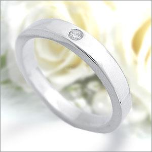 マリッジリング Eternita(エテルニタ) Piatto(ピアット) 《 MR-F27LD 》 ダイヤモンド 約0.01ct PT950(純度95%プラチナ) 2.7mm幅