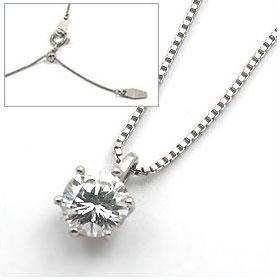 鑑定書付きネックレス  ダイヤモンド 0.4ct  D VVS2 EXCELLENT H&C 3EX  ベネチアン プラチナ Pt900/Pt850