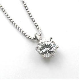 鑑定書付きネックレス  ダイヤモンド 0.3ct  E VVS2 EXCELLENT H&C  ベネチアン プラチナ Pt900/Pt850
