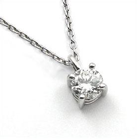 鑑定書付きネックレス ダイヤモンド 1ct E VS1 EXCELLENT H&C 3EX 丸アズキ プラチナ Pt900/Pt850
