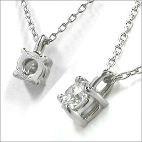 鑑定書付きネックレス  ダイヤモンド 0.25ct  D VVS2 EXCELLENT  丸アズキ プラチナ Pt900/Pt850