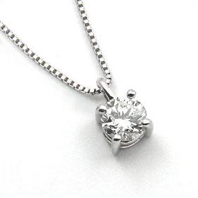 鑑定書付きネックレス ダイヤモンド 0.7ct G SI1 VERY-GOOD ベネチアン プラチナ Pt900/Pt850