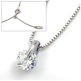 鑑定書付きネックレス  ダイヤモンド 0.4ct  E VS1 EXCELLENT H&C  ベネチアン プラチナ Pt900/Pt850