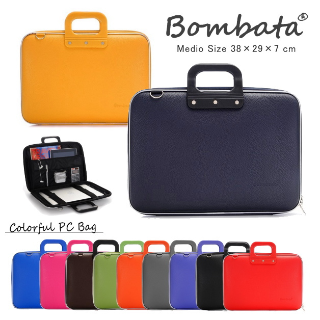 Bonbata Bomber Tar Medio Business Laptop Bag Pc Colorful Pvc Leather Shoulder Uni Work For To Back The 13 Inch