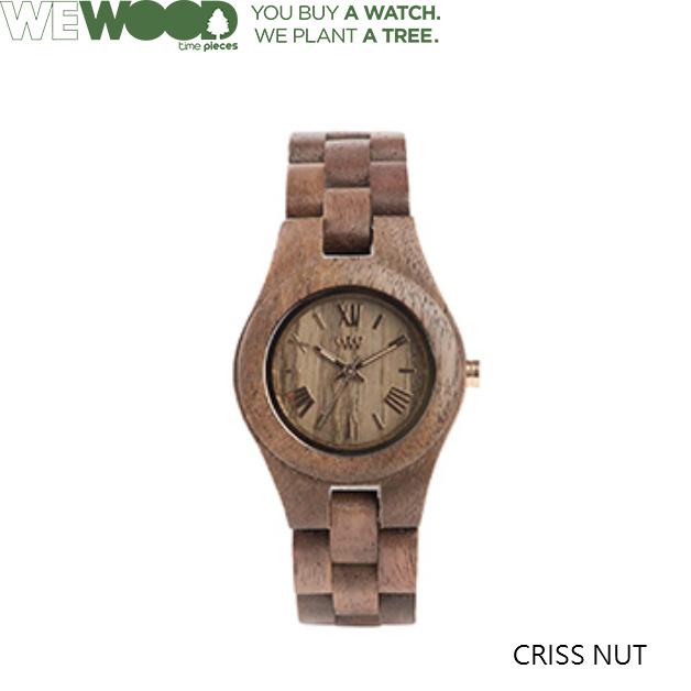 WE WOOD/ウィーウッド/CRISS NUT/ウォッチ 腕時計/天然木 茶 ブラウン 木製 レディス エコウォッチ