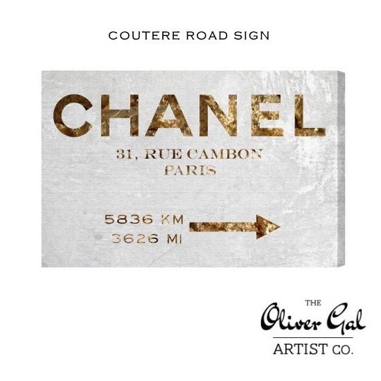【OliverGal】オリバー・ガル/アート/絵画/インテリア雑貨/シャネルデザイン/COUTURE ROAD SIGN 11653 オリバーガル