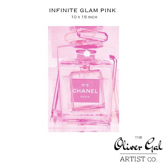 【OliverGal】オリバー・ガル/アート/絵画/インテリア雑貨/シャネルピンク香水デザイン/Infinite Glam Pink 14767 10×15インチ オリバーガル