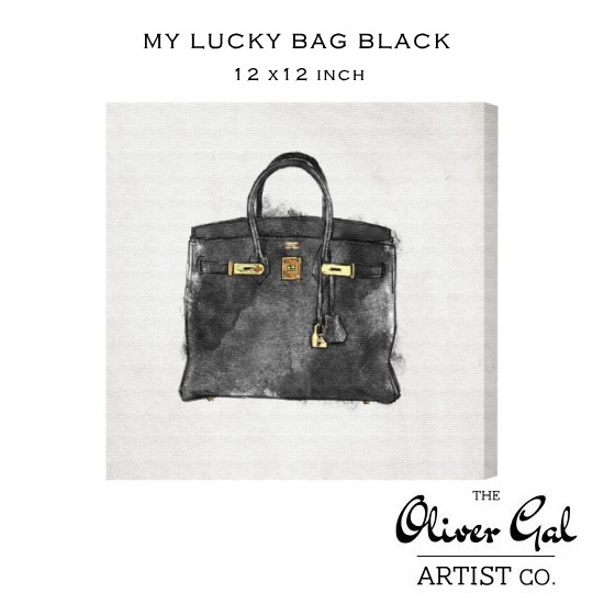 【OliverGal】オリバー・ガル/アート/絵画/インテリア雑貨/バーキン ブラック/絵/MY LUCKY BAG BLACK 11689 12×12インチ オリバーガル