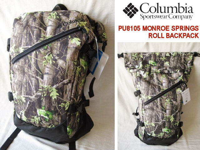 Columbia /コロンビア 【モンロースプリングスロールバックパック】 MONROE SPRINGS ROLL BACKPACK PU8105 940/Timberwolf Forest