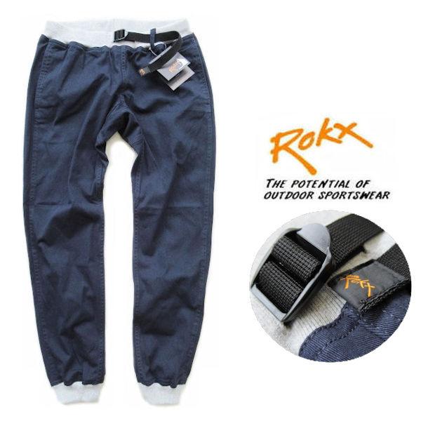 ROKX /ロックス【エムジーウッドパンツ】MG WOOD PANT リブクライミングパンツ RXMS191020 ネイビー