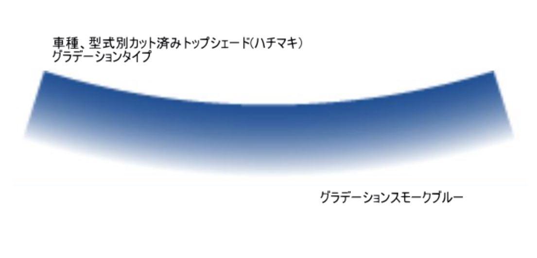 車検対応 ワゴンR 安心と信頼 ワゴンRスティングレーMH34S系フロントトップシェード 価格 カット済みカーフィルム グラデーションタイプ