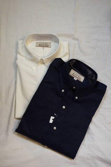 『AMERICAN BEAUTY』(アメリカン ビューティー)長そで リネン BDシャツ 日本製