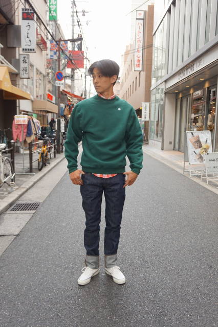 『CAMBER』(キャンバー)CROSS KNIT LIND クルースエット MADE IN USA