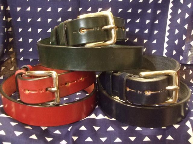 『HARDY & SONS 』(ハーディ アンド サンズ )Bridle Leather Belt ブライドル レザー ベルトMADE IN ENGLAND 532P17Sep16