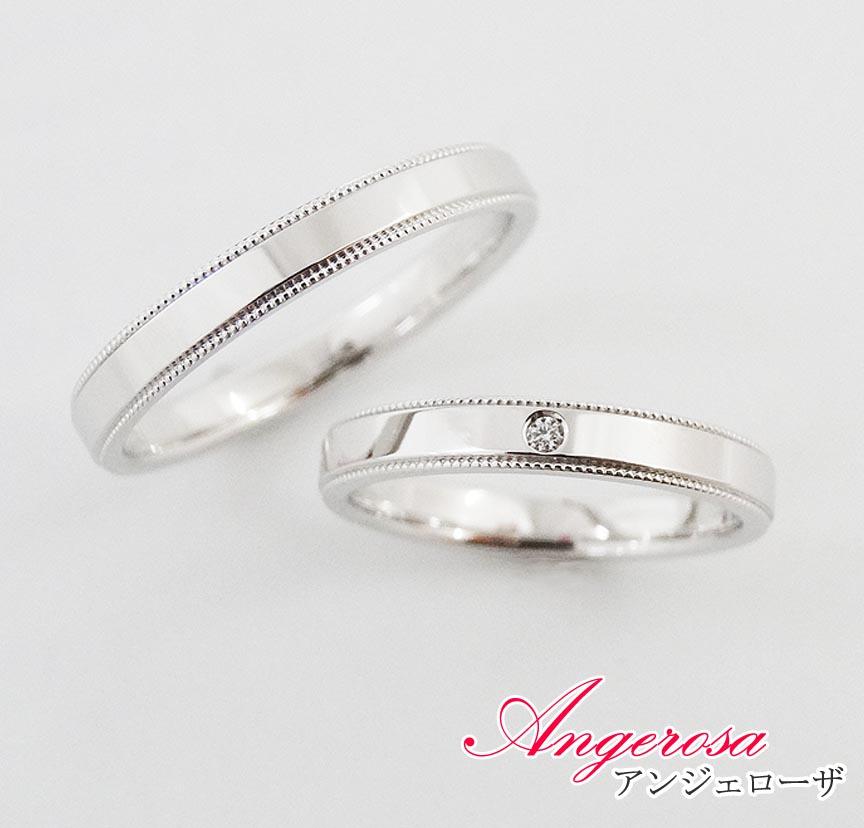 [ペアリング/指輪] K18/18金 結婚指輪/マリッジリング!ホワイトゴールド/K18WG/ペア リング/セット価格