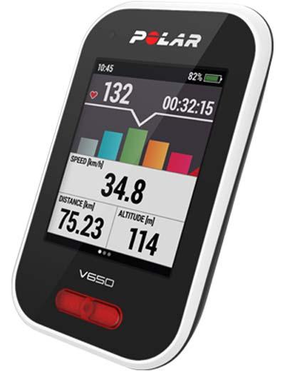 Polar ポラール V650 GPS サイクルコンピュータ OpenStreetMap対応 送料無料 HRセンサー別売モデル