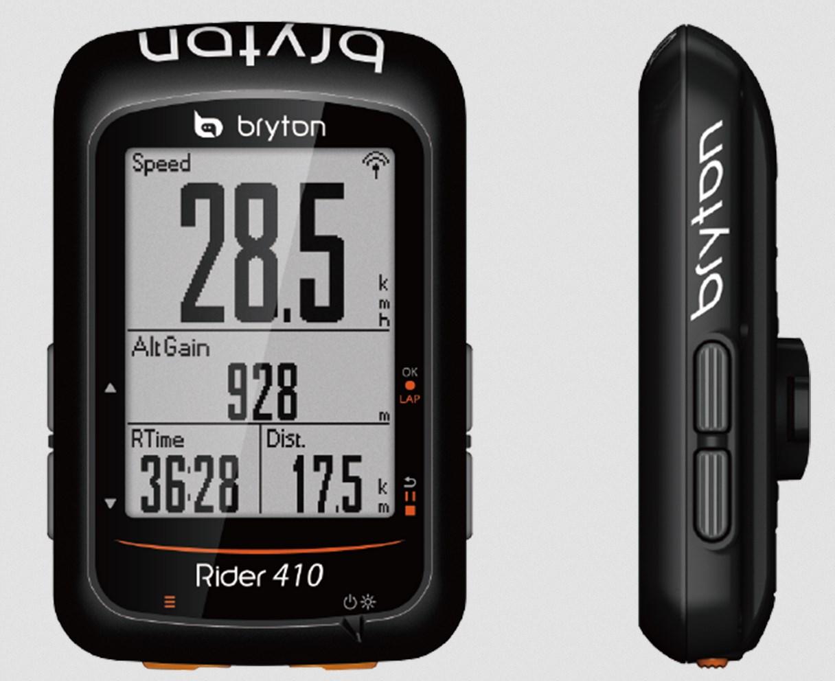 ブライトン Rider 410C ケイデンスセンサーセット GPS サイクルコンピュータ 大画面 最大35時間