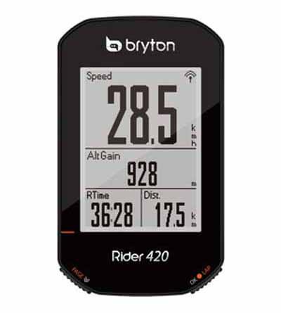 ブライトン Rider 420E 単品 GPSサイクルコンピュータ 2.3インチ液晶 ルートナビ ANT+ Bluetooth 35時間 最大
