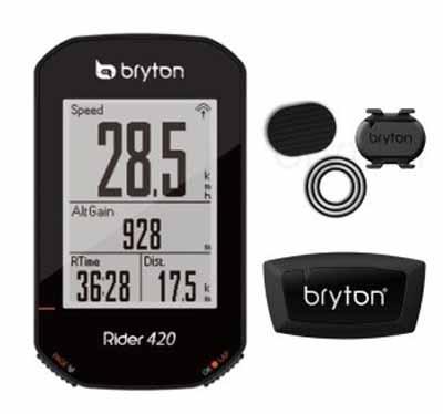 ブライトン Rider 420T GPSサイクルコンピュータ 2.3インチ液晶 ルートナビ ANT+ Bluetooth ケイデンス 心拍センサー付属 最大35時間