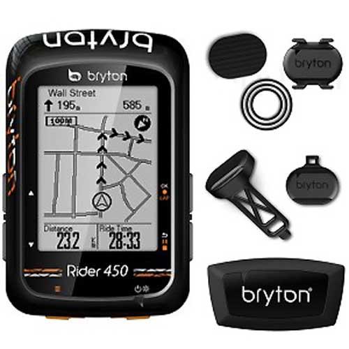 ブライトン Rider 450T GPS サイクル コンピュータ 単品 Bryton トリプルセンサーキット ケイデンスセンサー スピードセンサー ハートレートセンサー付属