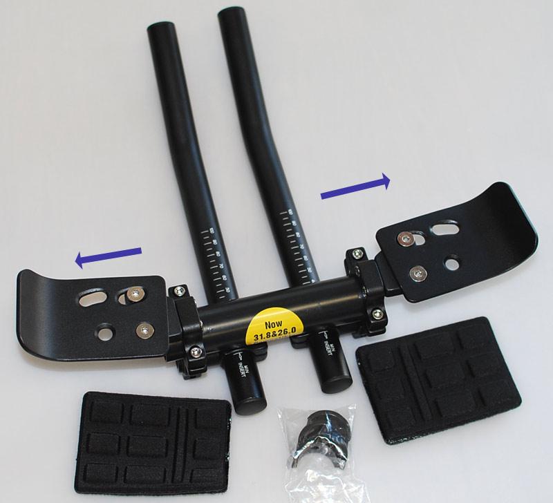 【バー角度と肘パッド角度が別に調整可能】ベネフィット DHB01 エアロアタッチメント